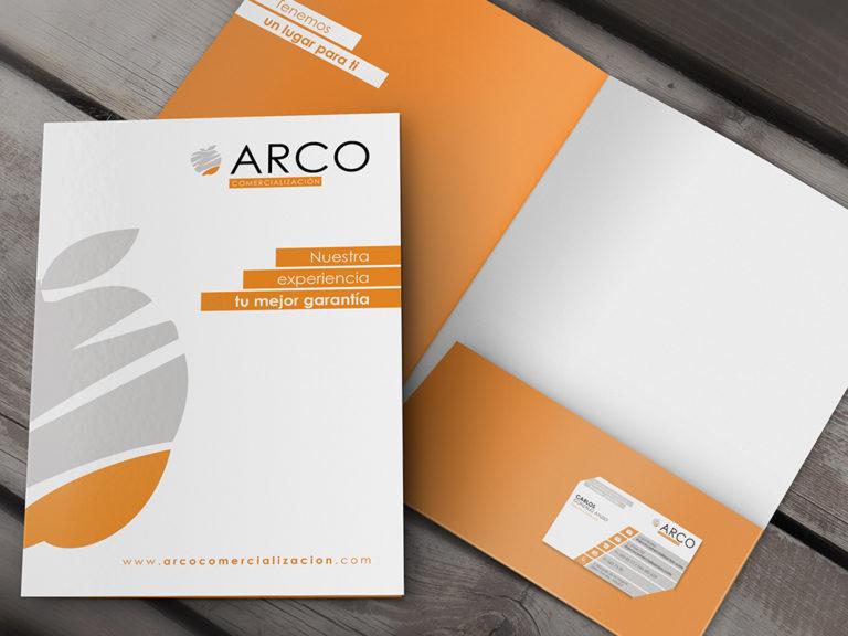 Diseño carpeta corporativa | Arco