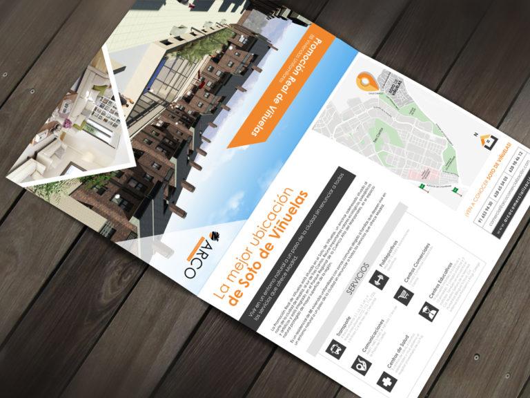 Diseño papelería comercial | Carpeta comercial Arco