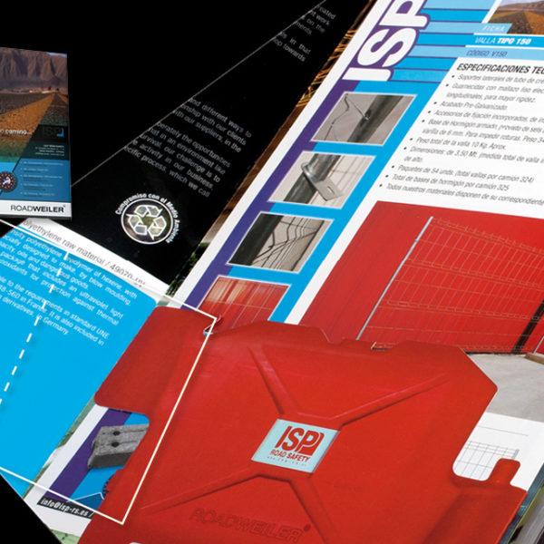 Diseño carpeta comercial de seguridad vial español / inglés