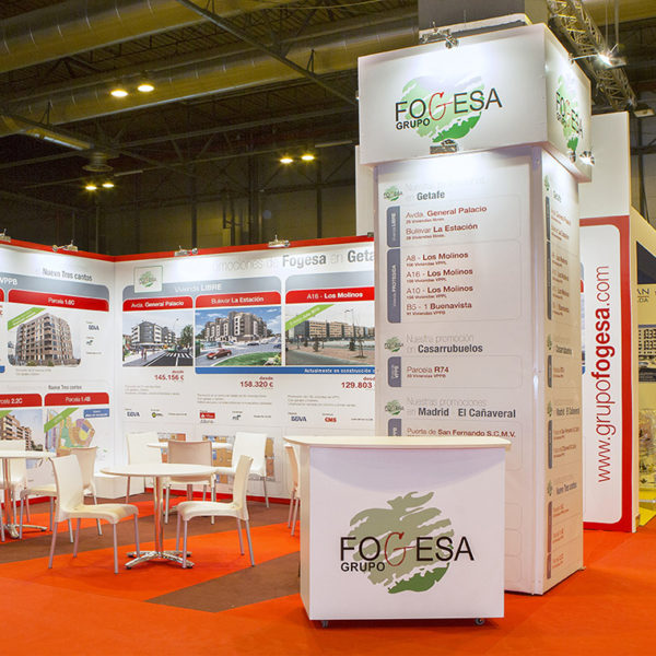 Diseño y fabricación de Stands para ferias, congresos y eventos