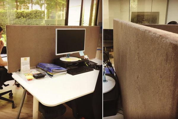 Mamparas divisorias de oficina portátiles y autoportantes