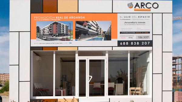Oficina modular exterior - Diseño caseta de obra