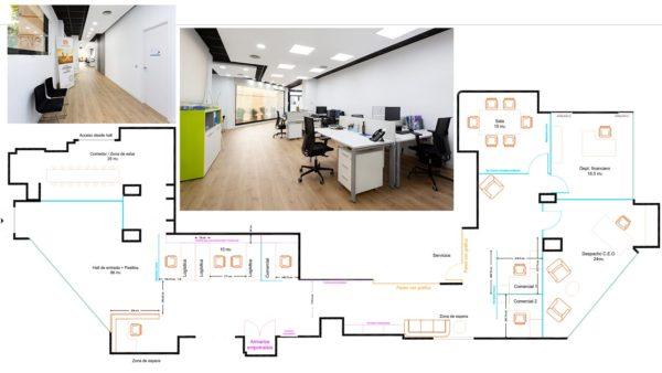 diseño y contrucción de reforma de oficinas